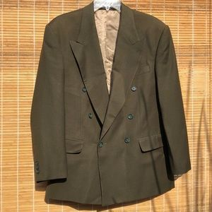 VINTAGE Men's Olive Green Wool Blazer